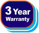 Standard 3-year warranty