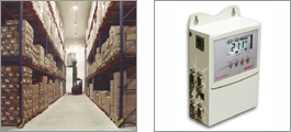 Datalogger for central monitoring of a high bay warehouse