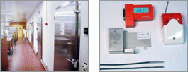 Datalogger for cold storage areas in buildings
