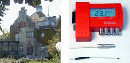Datalogger for measurements at old brickwork