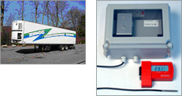 Datalogger in truck with cooler trailer